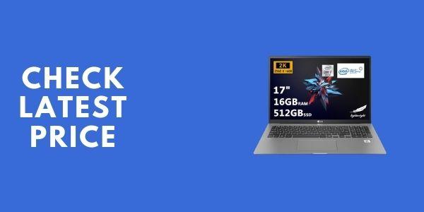 LG Gram Thin and Light Laptop, 17 WQXGA 2560 x 1600 IPS Display